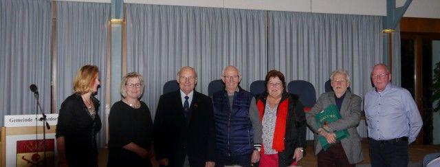 Ehrung Gründungsmitglieder Mit Vorstand A. Strohdiek, E.Möller, A.Steffen, I.Holtmann, K. Mai, R.Grote V.L.